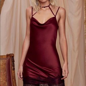 Nasty Gal x Courtney Love Night Moves Slip Dress M